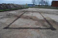 Eisenzeitlicher Hausgrundriss mit Wandgräbchen