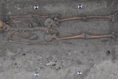 Frühmittelalterliches Körpergrab mit Messerbeigabe