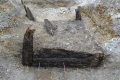 Quadratischer Brunnenkasten spätantiker Zeitstellung