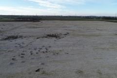 Drohnenaufnahme einer Ausgrabungsfläche