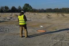 Drohne bei der Landung