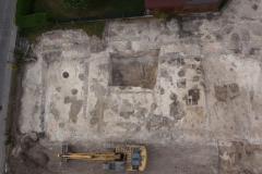 Drohnenbild einer frühmittelalterlichen Siedlung, Fotograf S. Kluthe
