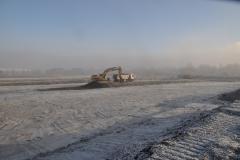 Abzug in Eis und Schnee