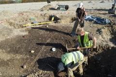 Ausgrabung eines vorgeschichtlichen Brunnens