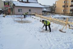 Winterliche Arbeitsbedingungen